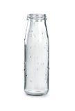 Pusta szklana butelka na białym tle fotografia royalty free