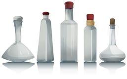 Pusta szklanych butelek kolekcja ilustracja wektor