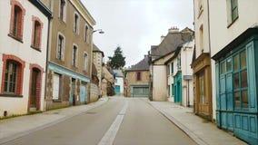 Pusta ulica mały breton miasteczko zbiory