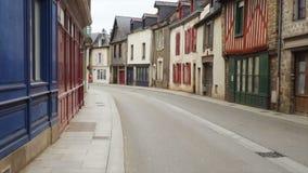 Pusta ulica mały breton miasteczko zbiory wideo