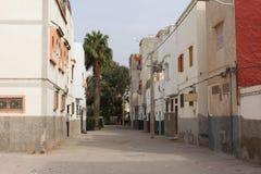 Pusta ulica w Agadir, Maroko Obraz Royalty Free