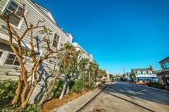 Pusta ulica w balboa wyspie Zdjęcie Stock