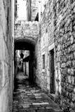 Pusta ulica w Dubrovnik zdjęcia royalty free