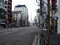 Pusta ulica w Japonia zdjęcia royalty free