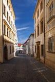 Pusta ulica w Olomouc mieście Zdjęcie Royalty Free