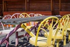 Pusta uliczna kawiarnia Fotografia Royalty Free