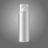 Pusta wektorowa aerosolowej kiści metalu 3D butelki puszka ilustracji