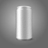 Pusta wektorowa aluminiowa puszka z condensated wodą royalty ilustracja