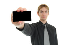 pusta wizytówka Zdjęcia Stock