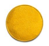 Pusta złocista moneta fotografia stock