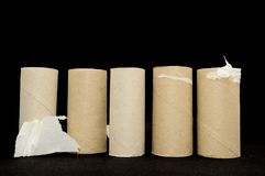pusta z rolki do toalety Fotografia Stock