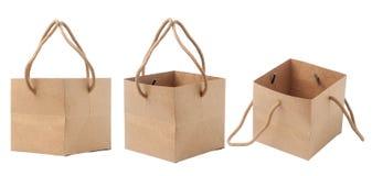 puste brown papierowe torby zdjęcie royalty free