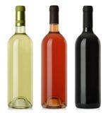 puste butelki przylepiać etykietkę żadnego wino Obrazy Stock