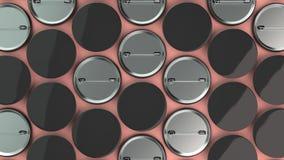 Puste czarne odznaki na czerwonym tle Fotografia Stock