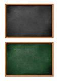 Puste czarny i zielone deski ustawiać odizolowywać Obraz Stock