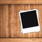 Puste fotografii ramy i bezpłatna przestrzeń na lewej stronie Obraz Royalty Free