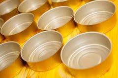 Puste jedzenie cyny przygotowywać dla wypełniać Obraz Stock