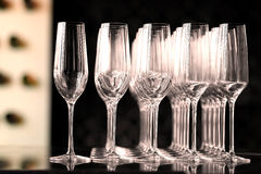 puste kieliszki wina Zdjęcie Stock