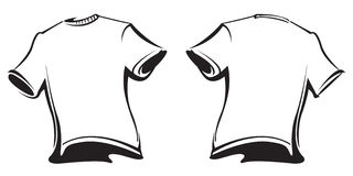 Puste koszulki ilustracja wektor