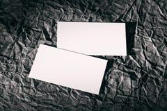 Puste miejsce bielu karty na czerni Zdjęcia Royalty Free