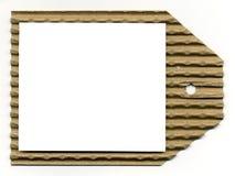 puste miejsce gofrujący astronautyczny etykietki w biel Zdjęcia Royalty Free