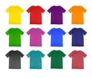 Puste miejsce koszulki barwiony szablon Fotografia Royalty Free