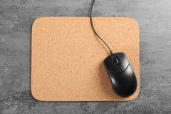 Puste miejsce matowa i komputerowa mysz Zdjęcie Royalty Free