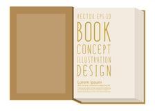 Puste miejsce najpierw wzywa inside książki szablonu pozycję na żółtym surfac ilustracja wektor