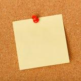 Puste miejsce notatka przyczepiająca corkboard Zdjęcie Royalty Free