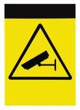 Puste miejsce ochraniający wideo inwigilacja znakiem, odosobniony kopii przestrzeni tło fotografia royalty free
