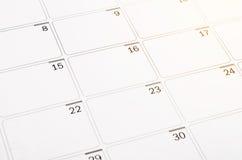 Puste miejsce otwarta kalendarzowa strona Fotografia Stock