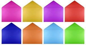 Puste miejsce otwarta koperta - kolorowa Obrazy Stock