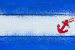 Puste miejsce plaży znak z czerwieni kotwicą obrazy stock