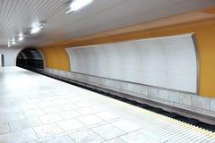 Puste miejsce popielaty billboard na metro ścianie royalty ilustracja