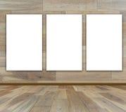 Puste miejsce rama w drewnianym pokoju ilustracja wektor
