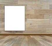 Puste miejsce rama w drewnianym pokoju royalty ilustracja