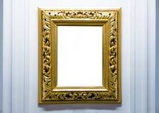 Puste miejsce puste ramy wiesza na muzeum ścianie Galeria sztuki, muzealna powystawowa biała ścinek ścieżka fotografia royalty free