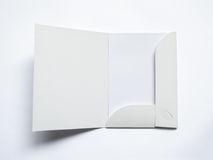 Puste miejsce rozpieczętowana falcówka na bielu Obrazy Stock