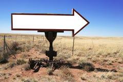 puste miejsce strzałkowaty znak Fotografia Stock