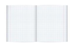 Puste miejsce wykładający notatnika prześcieradło (z przekątien liniami i czerwonym marginesem) Zdjęcia Stock
