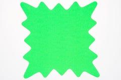 Puste miejsce zieleni gwiazdy wybuch odizolowywający na bielu. Obrazy Stock
