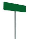 Puste miejsce Zielony Drogowy znak Odizolowywający, Wielki biel rama Obramiający Roadsid Zdjęcie Royalty Free