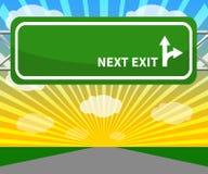 Puste miejsce znak Pokazuje Następną wyjścia 3d ilustrację Zdjęcia Stock