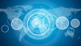 Puste okrąg ramy Światowa mapa jako tło Fotografia Royalty Free
