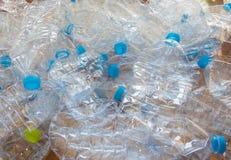 Puste plastikowe butelki woda Obrazy Stock