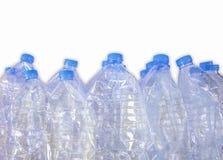 Puste plastikowe butelki woda dla przetwarzają, Odizolowywają na białym tle, Obraz Stock