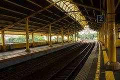 Puste platformy w dworzec fotografii brać w Dżakarta Indonezja Fotografia Stock