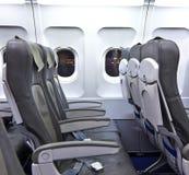 Puste siedzenia w samolocie zdjęcia stock