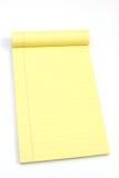 puste strony pochylone żółte Zdjęcia Royalty Free