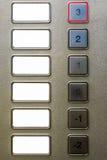 Puste windy klawiatury guzików podłoga -2, 3 etykietek tło Zdjęcie Royalty Free